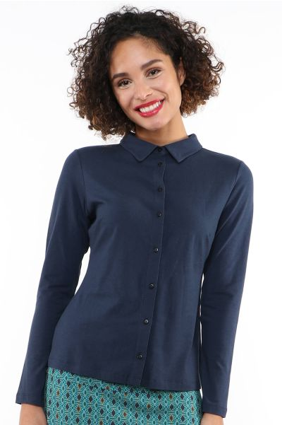 Cylia solid - navy